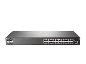 Switch 2930F Gerenciável 24G 4SFP+ com 24 portas PoE+10/100/1000 Mbps RJ45 +4 portas SFP+(1/10G) (Potencia PoE: 370W) - Aruba / JL255A