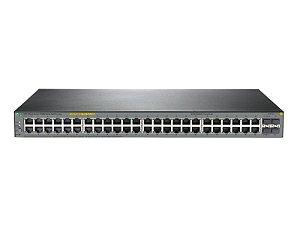 Switch 1920S Gerenciável 48G 4SFP com 48x 10/100/1000Mbps RJ45 (sendo 24x PoE+) + 4x SFP 1G (Potencia PoE+: 370W) - HPE / JL386A