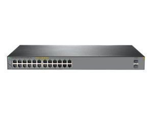 Switch 1920S Gerenciável 24G 2SFP com 24x PoE+ 10/100/1000Mbps RJ45 + 2x SFP 1G (Potencia PoE+: 370W) - HPE / JL385A