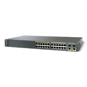 Switch Cisco CE Brazil Catalyst 2960 24 portas 10/100 + 2T/SFP LAN Base / WS-C2960+24TC-BR=