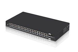 Switch Edge Ubiquiti 48Portas RJ45 + 4Portas SFP - ES-48-LITE