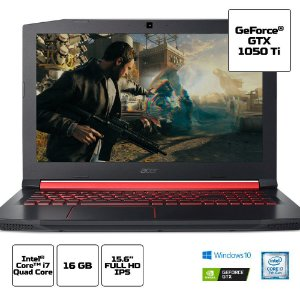 NH.Q32AL.002 Notebook Acer Gamer Nitro 5 An515-51-78d6 Core I7 7700hq 16gb 1tb 15,6 FHD IPS Geforce GTX 1050ti 4gb Windows 10 Home