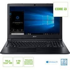 NX.HFMAL.002 Notebook Acer A315-53-333h Intel Core I3 7020u 4gb 1tb 15,6 Windows 10 Home Preto
