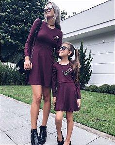 Vestido Mãe e Filha Bordado
