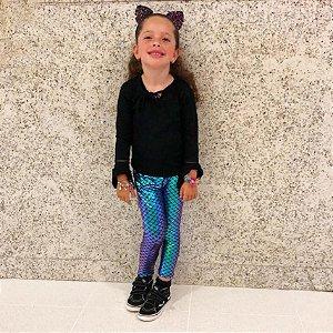 Calça Legging Sereia Infantil