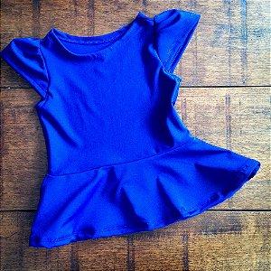 Blusa Peplum Azul BIC