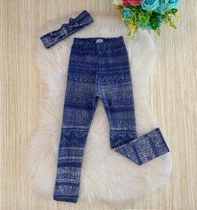 Calça Legging Jeans com turbante