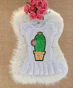 Vestido Poá Cactus