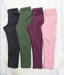 Calça Legging Suplex Flanelada Colorida