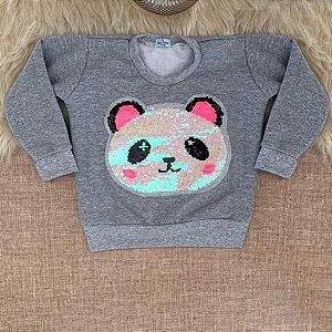 Moletom Blusa Urso Panda FLanelado