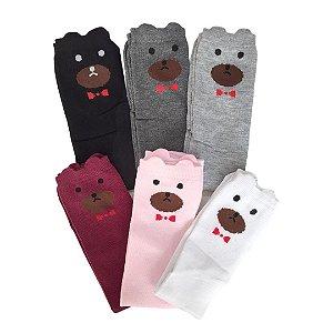 Meia 3/4 Infantil Urso de 3 a 11 anos