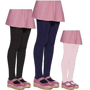 Meia Calça Infantil Lisa - Colorida
