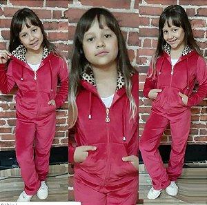 Conjunto Agasalho + Calça em Plush Infantil