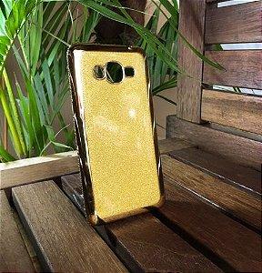 Capinha Brilho Dourada Ouro Samsung