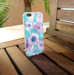 Capinha Personalizada Flores Apple Iphone