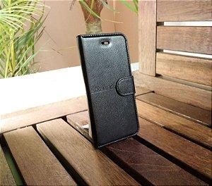 Case Couro Preta H'maston Apple Iphone