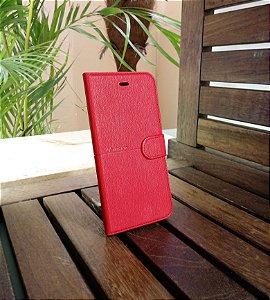 Case Couro Vermelha H'maston Samsung