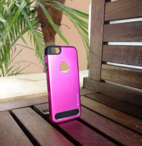 Capinha Anti Impacto Pink Apple Iphone