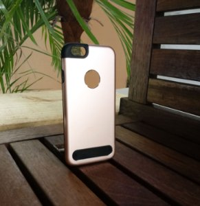 Capinha Anti Impacto Rose Apple Iphone