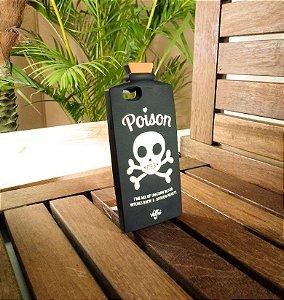 Capinha Emborrachada Poison Preta Apple Iphone