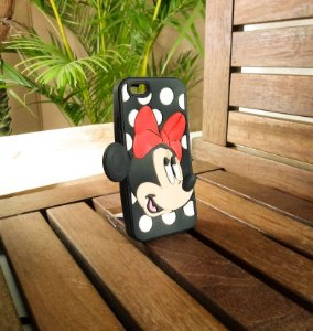 Capinha Emborrachada Minnie Apple Iphone