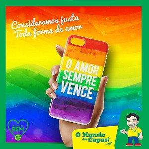 Capinha Personalizada O amor sempre vence Samsung