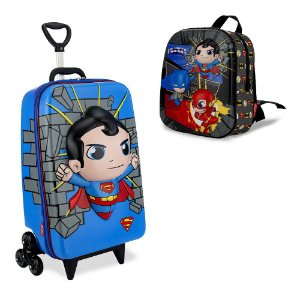 Mochila Escolar Dc Super Friends Superman e Lancheira Maxtoy