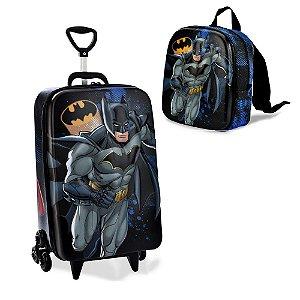 Mochila Escolar infantil Liga da Justiça, Batman Maxtoy