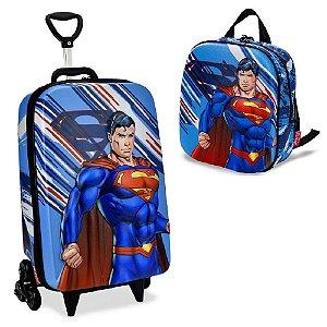 Mochila Escolar infantil Liga da Justiça Superman Maxtoy