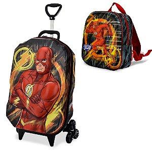 Mochila Escolar Liga da Justiça The Flash Maxtoy