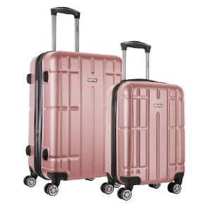 Conjunto de Malas Pequena e Media Viaggio ABS Rígida Via-1720 - Rose