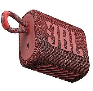 Caixa De Som Jbl Go 3 Portátil Bluetooth Vermelho