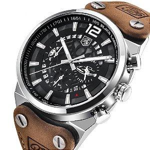 9d8a822a0e9 Relógio Blindado NIBOSI Inox Funcional - 35% OFF + Frete Grátis ...