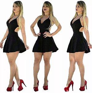 Vestido curto cintura marcada Princesa Panicat