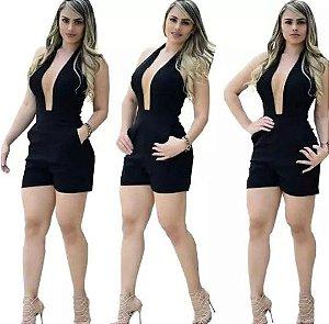 Macaquinho Curto Feminino Tule Instagram Com Bolso