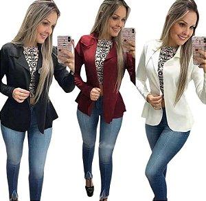 7f0a3aa12 Blazer Feminino - Algodão, lindo social, slim, preto, branco, amarelo