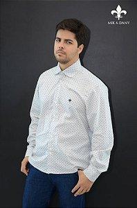 Camisa social masculina manga longo Branca original