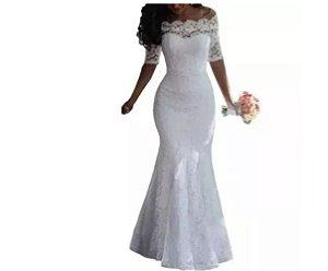 vestido de noiva sereia casamento civil religioso