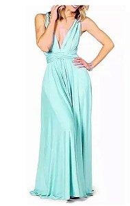 Vestido de festa Verde Tiffany Longo madrinha casamento Formatura