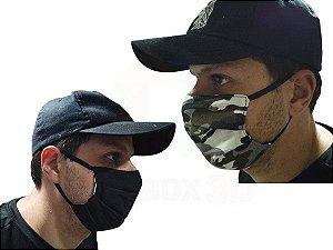 Mascara De Proteção Corona vírus Respiratória Lavável Dupla Face