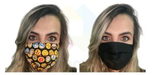 Mascara De Proteção Corona vírus Respiratória Lavável Dupla Face Kit 4