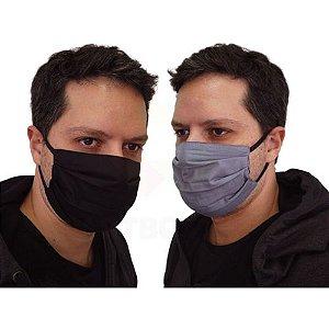 Mascara De Proteção Corona Vírus Respiratória Lavável Dupla Face  Kit 5 Unidades