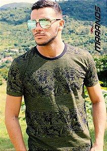 Camiseta masculina manga curta original verde Marands