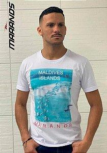 Camiseta masculina Branca manga curta original Marands