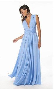 Vestido Azul serenity  Longo de Festa Madrinha casamento infinity
