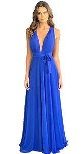Vestido Azul Royal Longo de Festa Madrinha casamento infinity