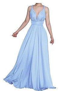 Vestido Festa Azul Serenity Longo  size madrinha casamento formatura Infinito