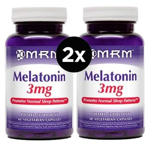 2X Melatonina, 3 mg, MRM, 60 Capsulas Vegetarianas