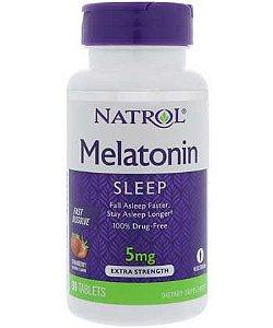 Melatonina 5mg [Sublingual] Fast Dissolve (90 comprimidos) - Sabor Morango - Natrol