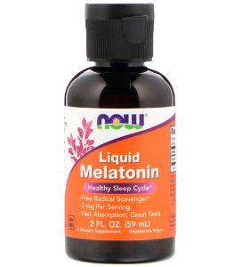 Melatonina Liquida 3mg (60 ml) - Now Foods